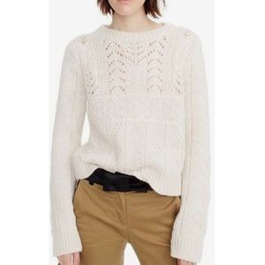 J. CREW Heritage 1988 cableknit sweater size XS